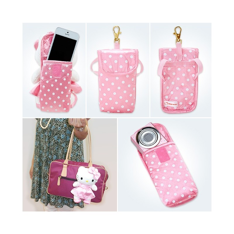 hello kitty movable mascot doll with smart phone case