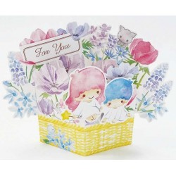 Little Twin Stars Greeting Card: 3D Flower