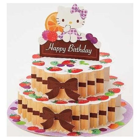 Hello Kitty Birthday Card 3D Cake