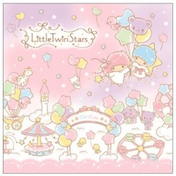 Little Twin Stars Block Memo: Balloon