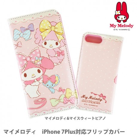 My Melody iPhone 7Plus / 8Plus Case Flip Piano