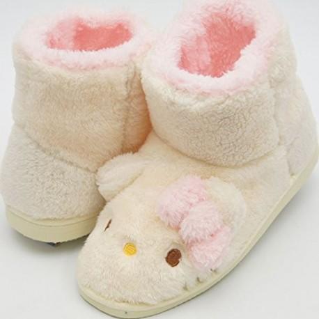 Hello Kitty Mouton Boots Ladies Medium Ivory 24-26cm
