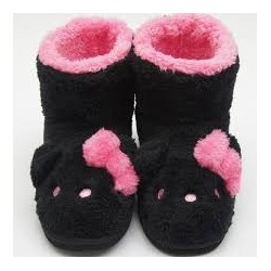 Hello Kitty Mouton Boots Ladies Large Black