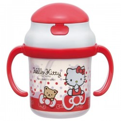 Hello Kitty Straw Hopper Mug: Dot Ribbon