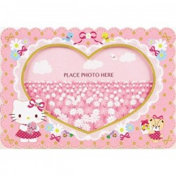 Hello Kitty Greeting Card: Photo Frame Card (Flower)