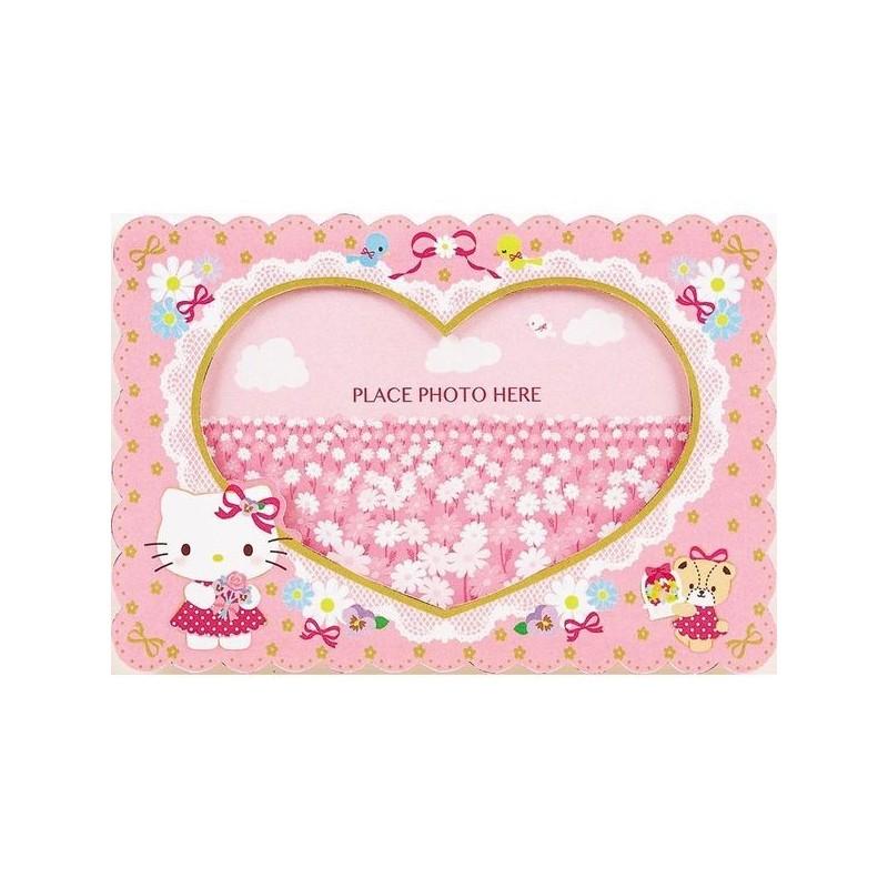 Hello kitty greeting card photo frame card flower the kitty shop hello kitty greeting card photo frame card flower m4hsunfo