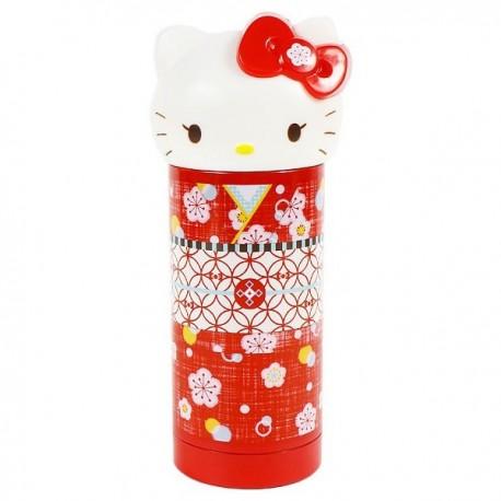 Hello Kitty Stainless Bottle: Red Kimono
