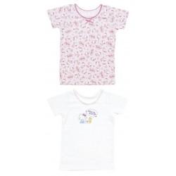 Hello Kitty 2 Pcs Short Sleeve Undershirts: 90
