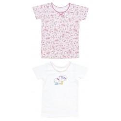 Hello Kitty 2 Pcs Short Sleeve Undershirts: 100