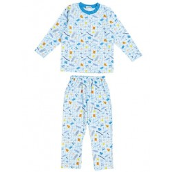 Shinkaizoku Long Sleeve Pajamas: Blue 100