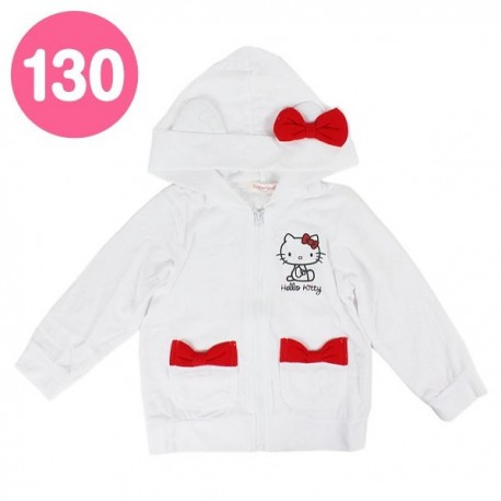 Hello Kitty Zip-Up Jacket: 130 Ribbon