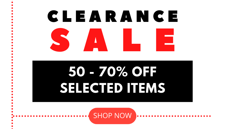 50 - 70% OFF Clearance sale