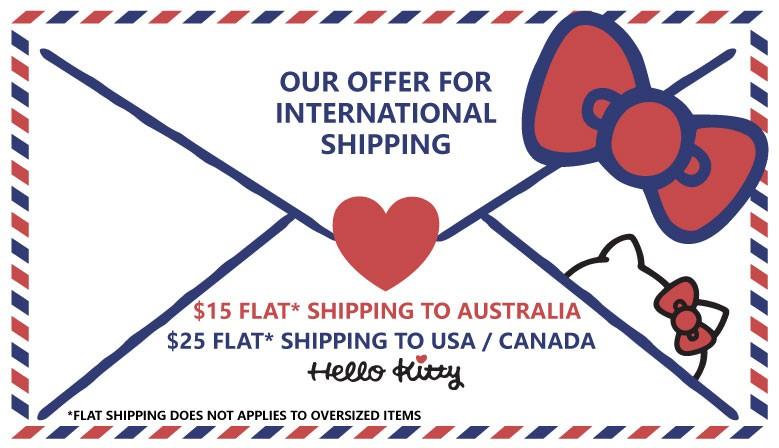 Flat shipping fee for Australia / USA / Canada