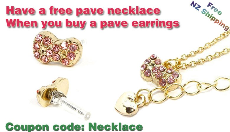 Free Pave Necklace for Pave Earrings