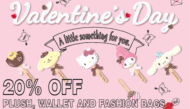 20% OFF PLUSH, WALLET AND FASHION BAGS